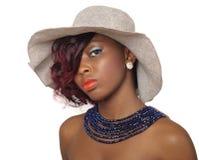 Mujer afroamericana de la belleza Fotografía de archivo