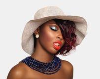 Mujer afroamericana de la belleza Fotos de archivo