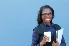 Mujer afroamericana de mirada elegante joven Imagen de archivo
