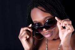 Mujer afroamericana joven Foto de archivo libre de regalías