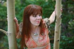 Mujer al aire libre Imágenes de archivo libres de regalías