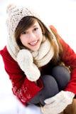 Mujer al aire libre en invierno Imagen de archivo libre de regalías