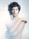 Mujer angelical Fotografía de archivo