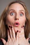 Mujer ansiosa Fotografía de archivo libre de regalías