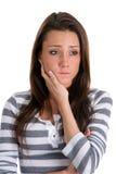 Mujer ansiosa Fotos de archivo libres de regalías