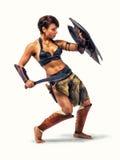 Mujer antigua del guerrero Imagen de archivo libre de regalías