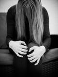 Mujer apenada Fotos de archivo