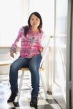 Mujer asiática bastante joven. Fotos de archivo libres de regalías
