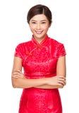 Mujer asiática con Año Nuevo chino Imagenes de archivo
