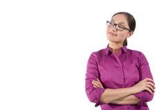 Mujer asiática con los brazos cruzados Imagen de archivo libre de regalías