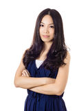 Mujer asiática con sonrisa Foto de archivo
