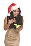 Mujer asiática de Lovelyl con el anillo Fotografía de archivo libre de regalías