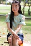 Mujer asiática del retrato al aire libre Imagen de archivo