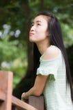 Mujer asiática del retrato al aire libre Imagen de archivo libre de regalías