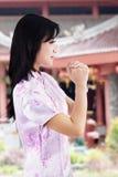 Mujer asiática en Año Nuevo chino Fotografía de archivo libre de regalías