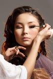 Mujer asiática en un salón de belleza. Foto de archivo libre de regalías