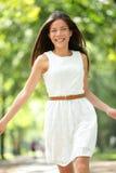 Mujer asiática feliz Fotos de archivo