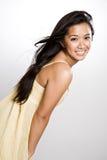 Mujer asiática feliz hermosa Foto de archivo libre de regalías