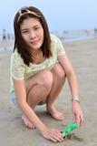 Mujer asiática hermosa del retrato Foto de archivo