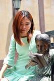 Mujer asiática hermosa del retrato Fotos de archivo
