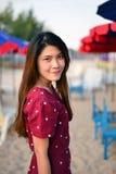 Mujer asiática hermosa del retrato Imagen de archivo