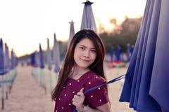 Mujer asiática hermosa del retrato Foto de archivo libre de regalías