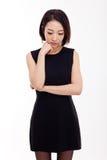 Mujer asiática joven deprimida Foto de archivo