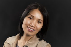 Mujer asiática positiva Imagen de archivo