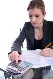 Mujer - asunto, profesor, abogado, estudiante, etc Foto de archivo libre de regalías