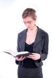 Mujer - asunto, profesor, abogado, estudiante, etc fotografía de archivo