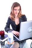 Mujer - asunto, profesor, abogado, estudiante, etc Imagen de archivo libre de regalías