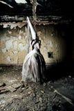Mujer asustadiza Fotografía de archivo libre de regalías