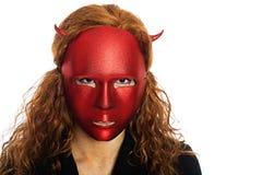 Mujer asustadiza del diablo foto de archivo