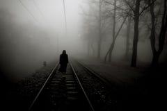 Mujer asustadiza del horror Fotografía de archivo
