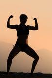 Mujer atlética imagen de archivo
