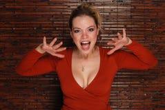 Mujer atractiva foto de archivo libre de regalías