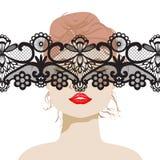 Mujer atractiva stock de ilustración