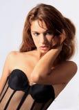 Mujer atractiva bonita joven Fotografía de archivo