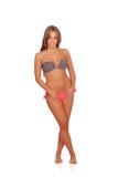 Mujer atractiva con el bikini Fotografía de archivo libre de regalías