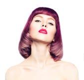 Mujer atractiva con la moda Bob Hairstyle Imágenes de archivo libres de regalías