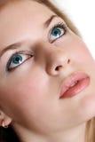 Mujer atractiva con los ojos hermosos Imagen de archivo
