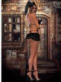 Mujer atractiva con ropa atractiva stock de ilustración