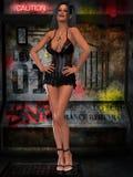 Mujer atractiva con ropa atractiva libre illustration