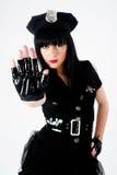 Mujer atractiva de la policía Imagenes de archivo