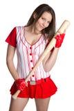 Mujer atractiva del béisbol imagenes de archivo