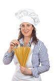 Mujer atractiva del cocinero Fotos de archivo libres de regalías