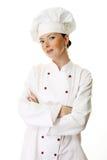Mujer atractiva del cocinero Imagenes de archivo
