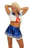 Mujer atractiva del marinero Fotos de archivo libres de regalías