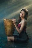 Mujer atractiva del país asiático Foto de archivo