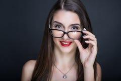 Mujer atractiva del profesor foto de archivo